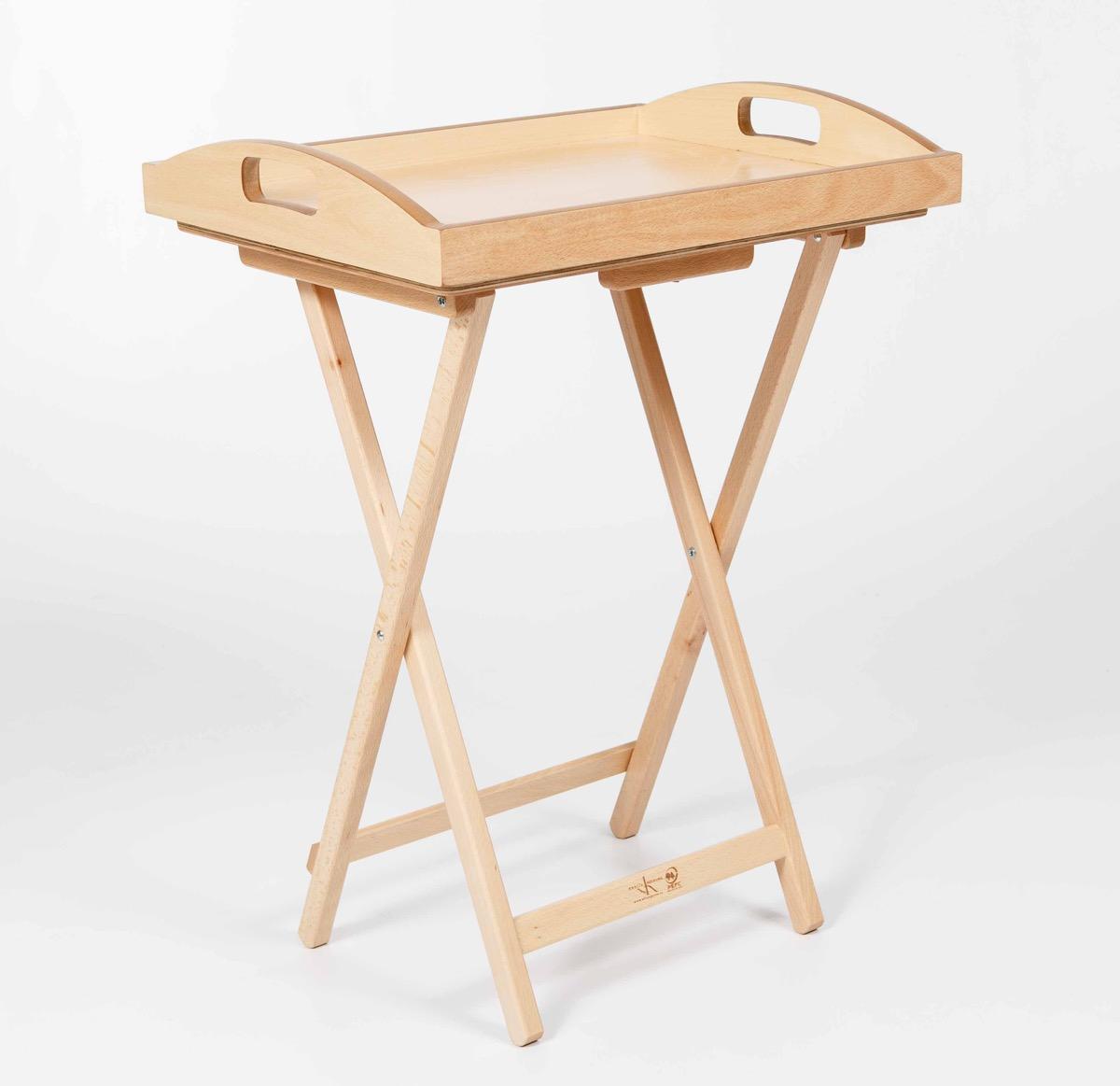 mesa plegable con bandeja de madera garc a hnos