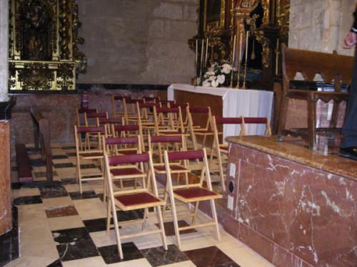 Ejemplo de uso de silla plegable Madrid Tapizada