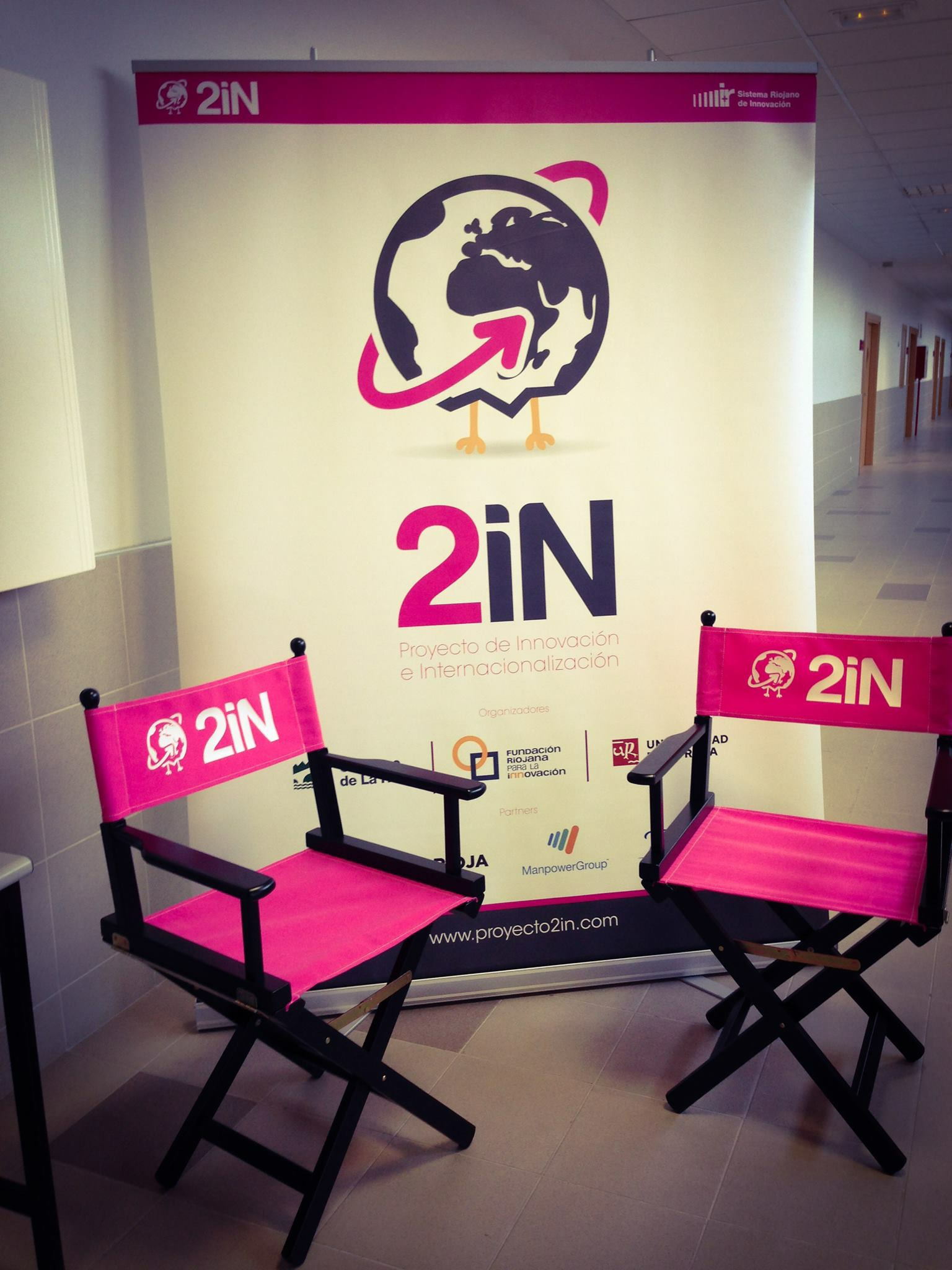 Ejemplo de uso de sillón plegable de director Mallorca