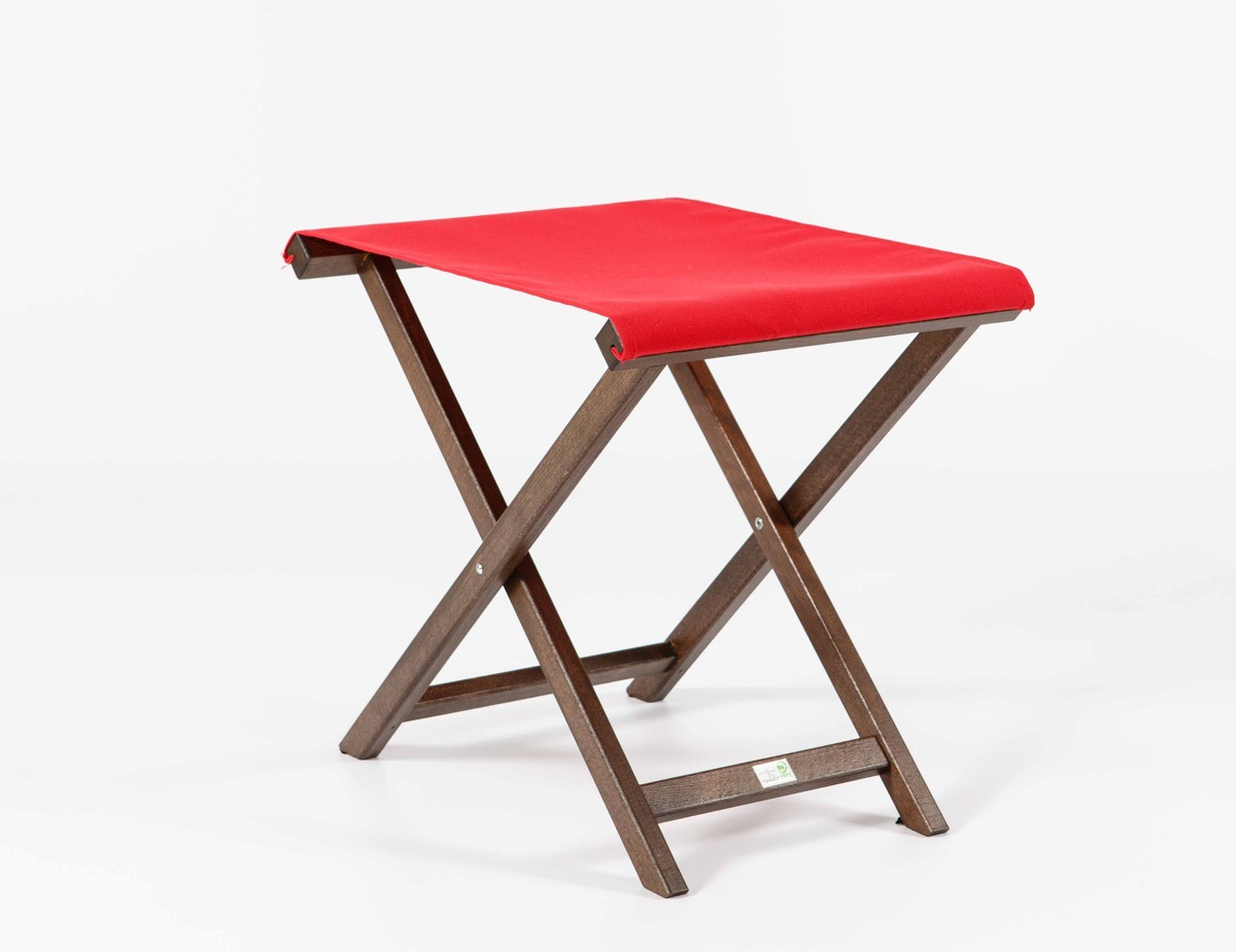 repose pieds pliant avec textile garc a hermanos. Black Bedroom Furniture Sets. Home Design Ideas