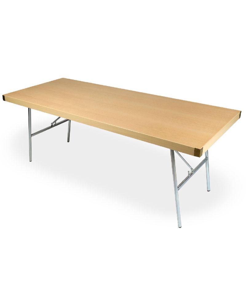 Mesa de catering de madera con patas met licas - Patas para tableros ...