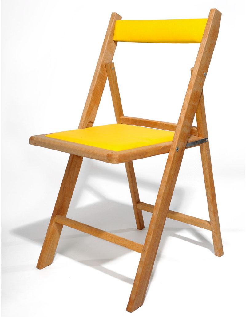 Ejemplo de acabado en linaza con tapizado amarillo