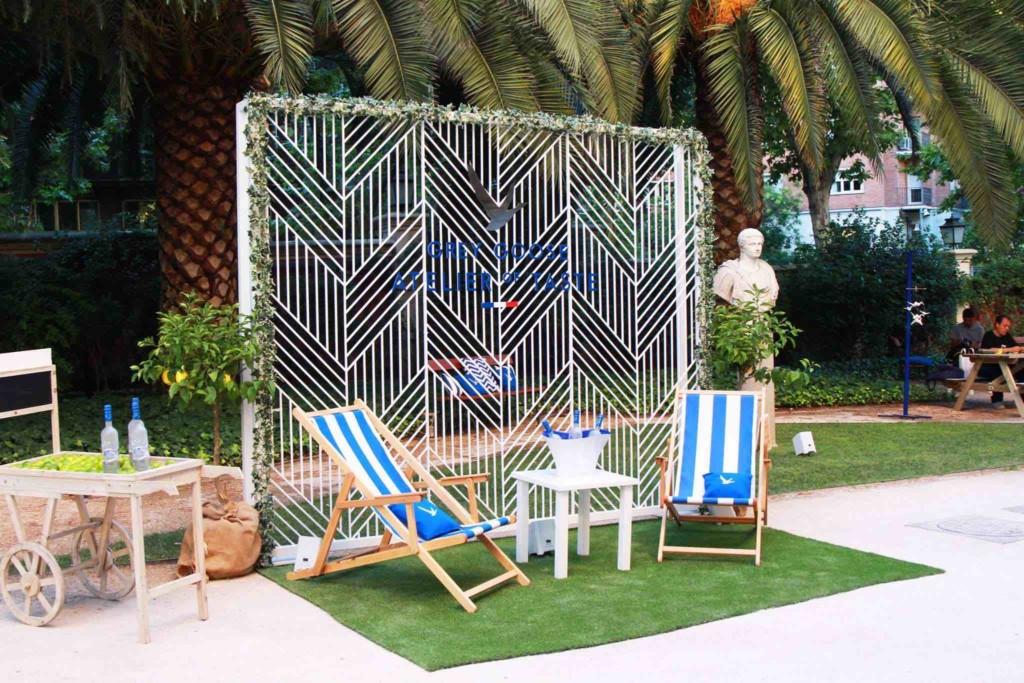 tumbonas para eventos Atelier of Taste Madrid